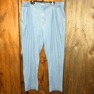 Cartonnier Anthropologie Chambray Paperbag Pant